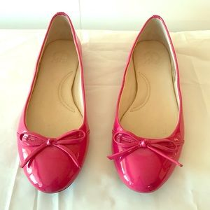 C Wonder Bright Pink Leather Ballet Flats